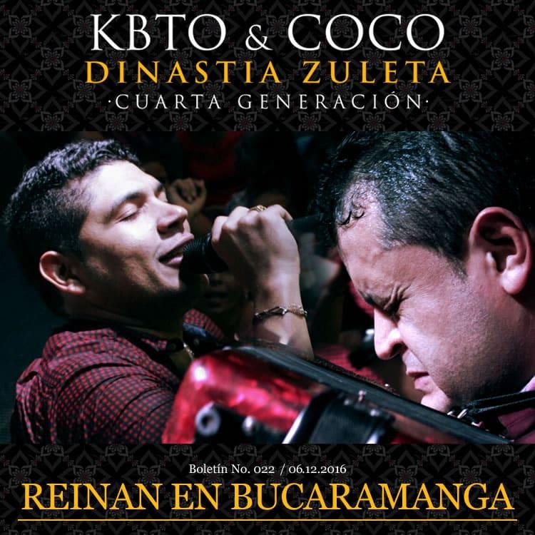 KBTO & COCO han encontrado en varias ciudades de Colombia un trampolín para popularizarse en el resto del país como una de las mejores agrupaciones vallenatas, una de ellas es Bucaramanga