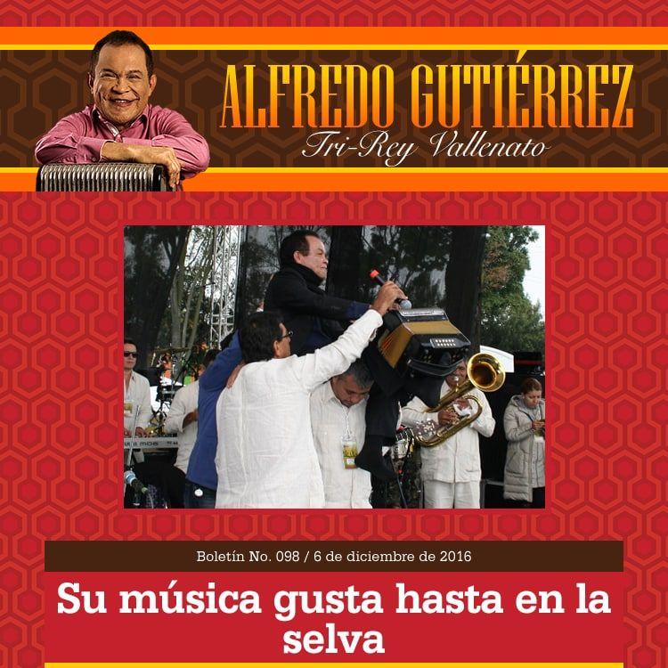 La música de ALFREDO GUTIÉRREZ gusta hasta en la selva