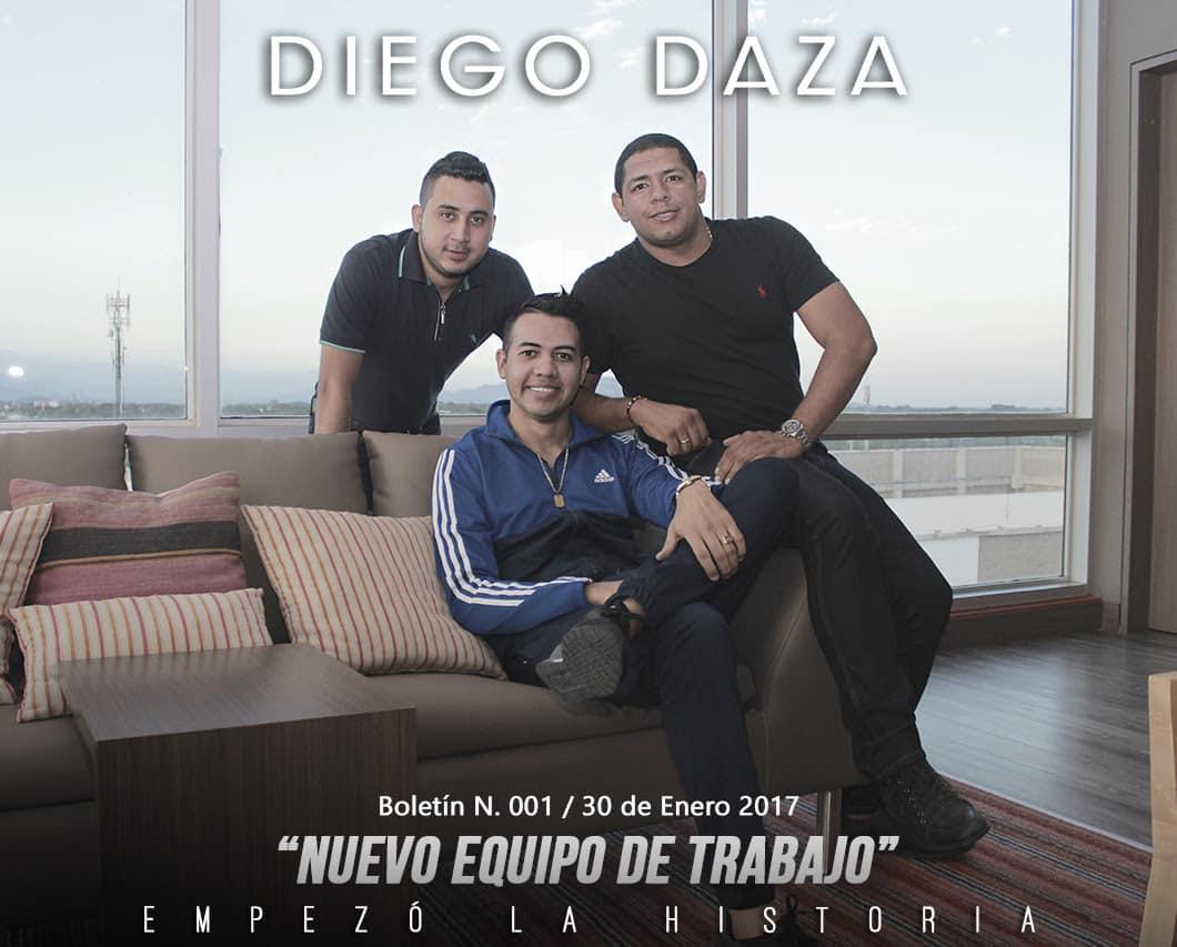 Nuevo equipo de trabajo de Diego Daza