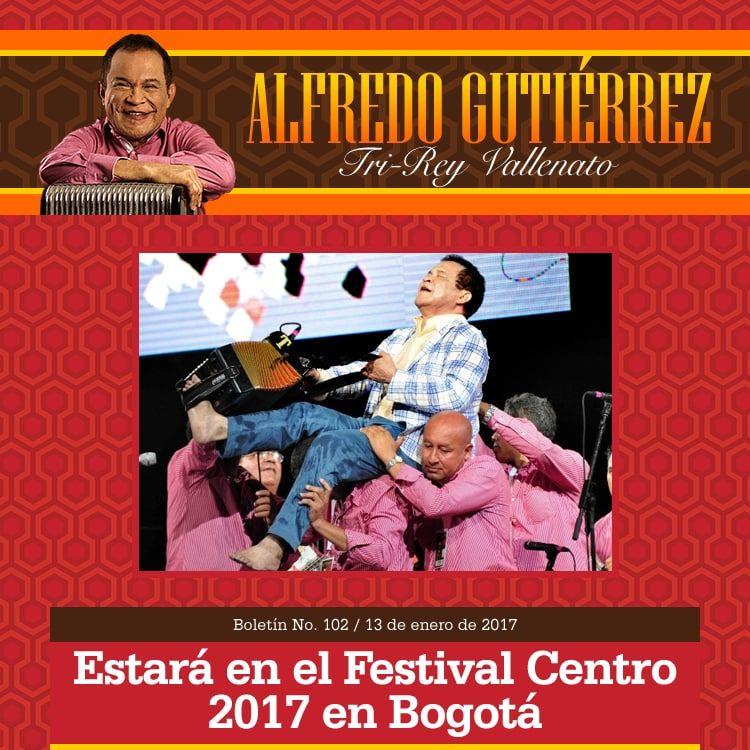 ALFREDO GUTIÉRREZ estará en el Festival Centro 2017