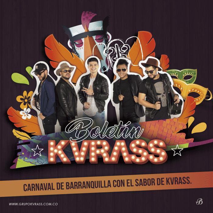 Grupo Kvrass en el carnaval de Barranquilla