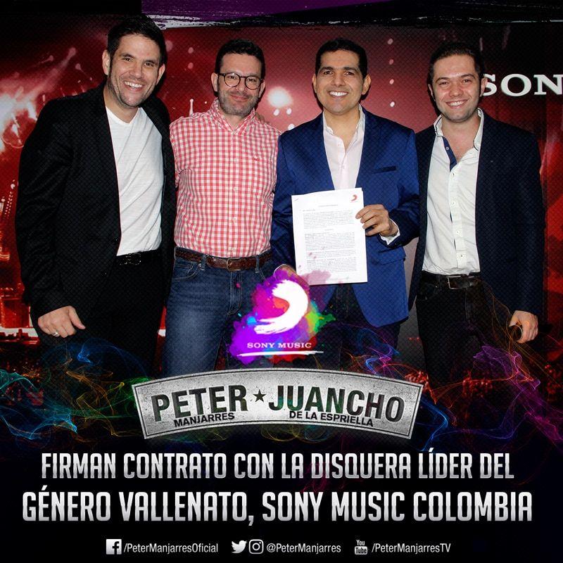 Peter y Juancho firman contrato con Sony Music