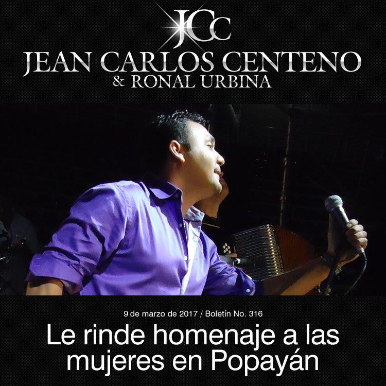 Jean Carlos Centeno le rinde homenaje a las mujeres en Popayán