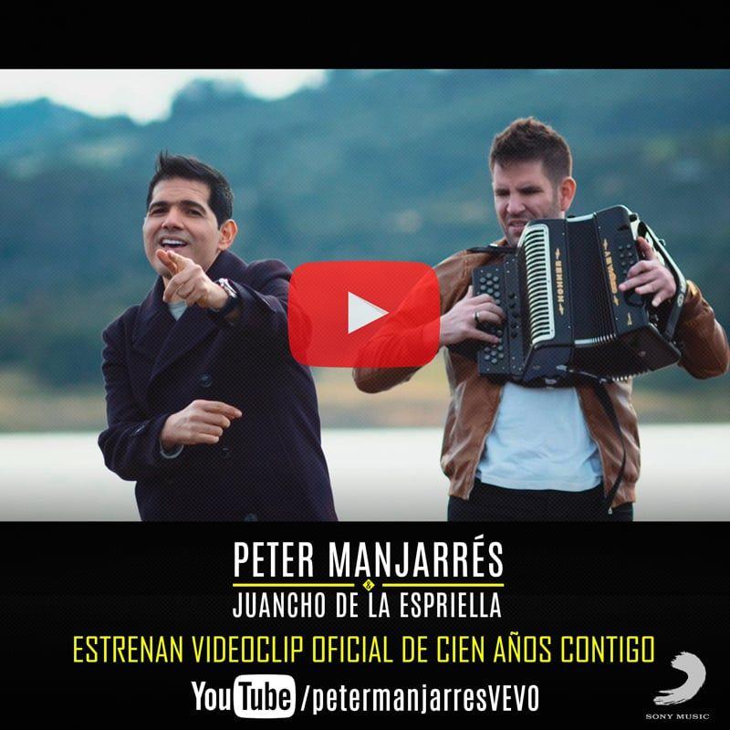 """Peter Manjarrés y Juancho de la Espriella estrenan el videoclip oficial de """"Cien años contigo"""""""
