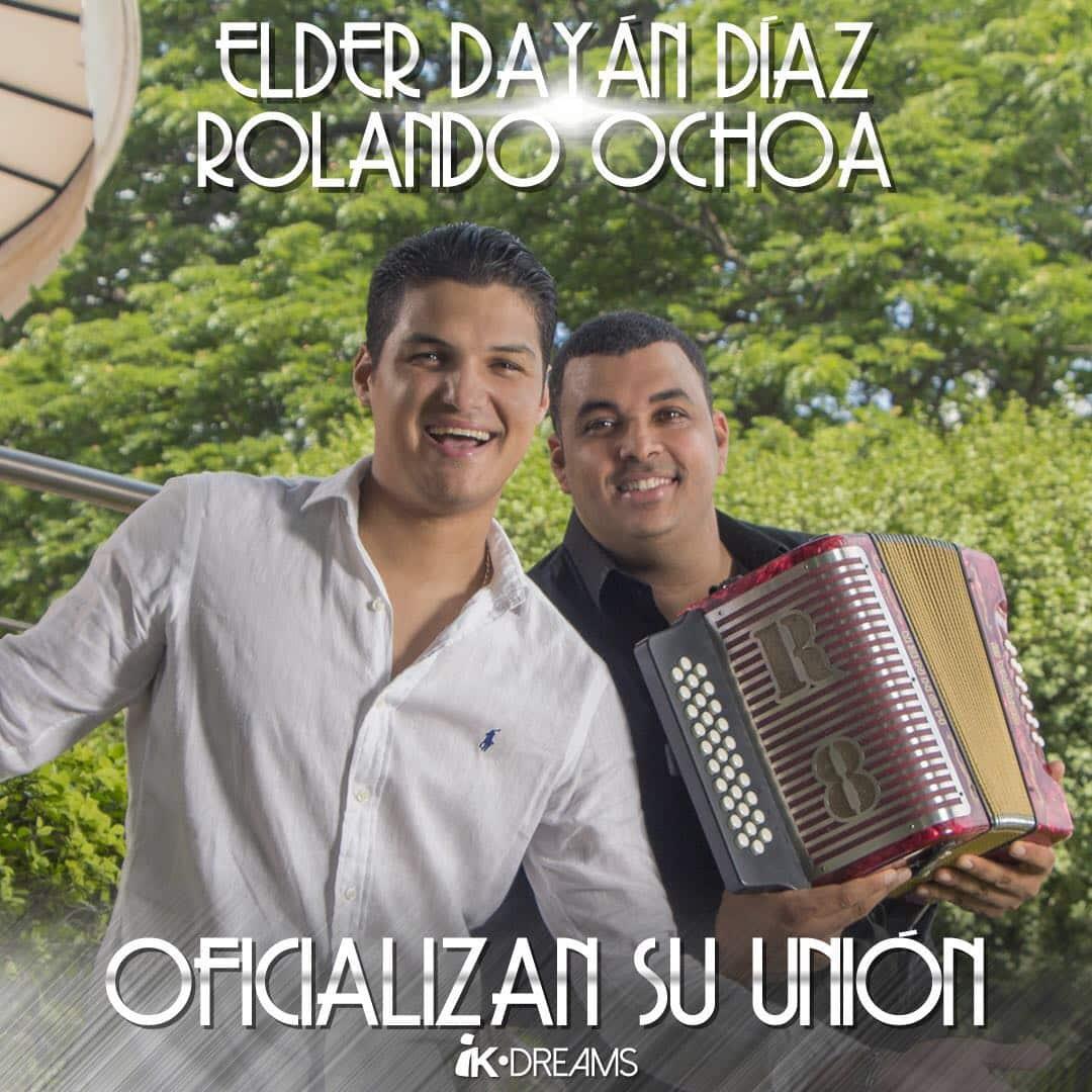 Elder Dayan Diaz y Rolando Ochoa oficializan su unión