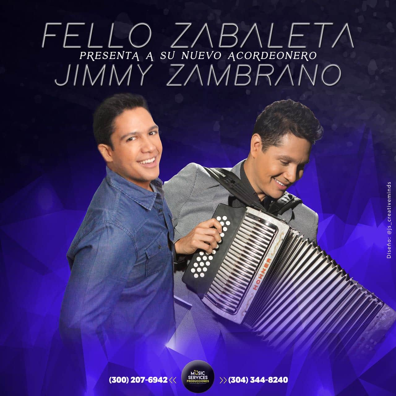Fello Zabaleta y Jimmy Zambrano