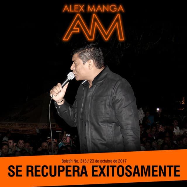 Alex Manga se recupera satisfactoriamente