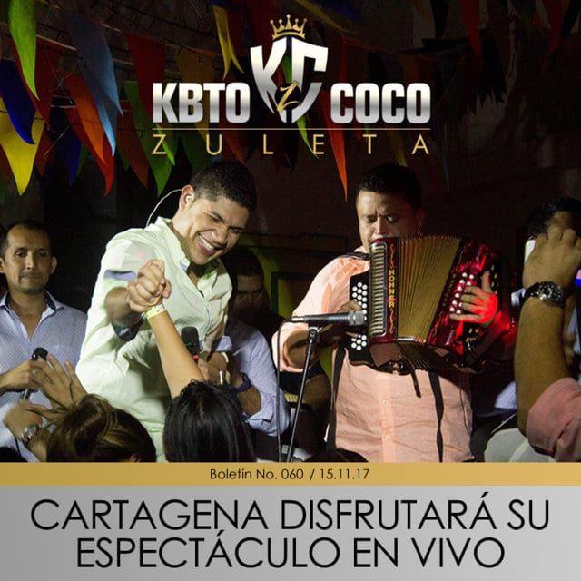 cartagena disfrutar el espect culo en vivo de kbto coco