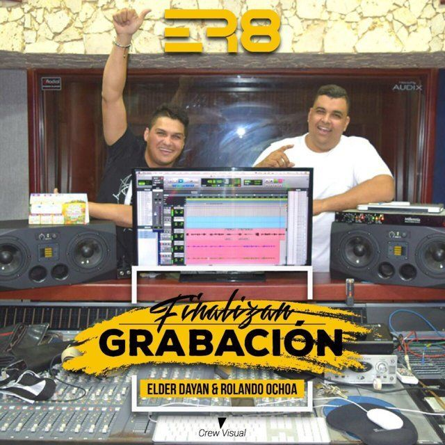 Elder Díaz y Rolando Ochoa finalizan grabación