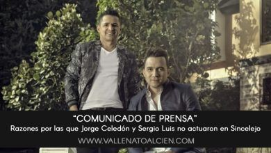 Jorge Celedon y Sergio Luis no actuaron en Sincelejo