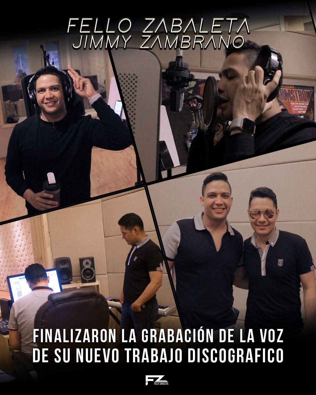 Fello Zabaleta termino de grabar con Jimmy Zambrano