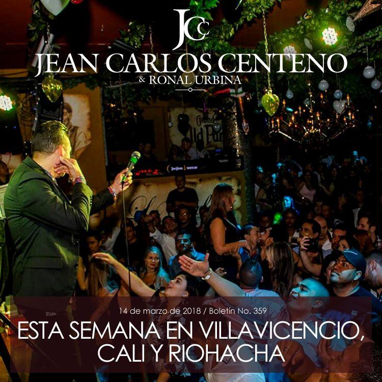 Jean Carlos Centeno en Villavicencio, Cali y Riohacha