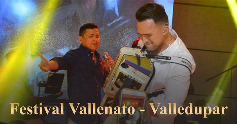 Jorgito Celedon y Sergio Luis en el Festival Vallenato