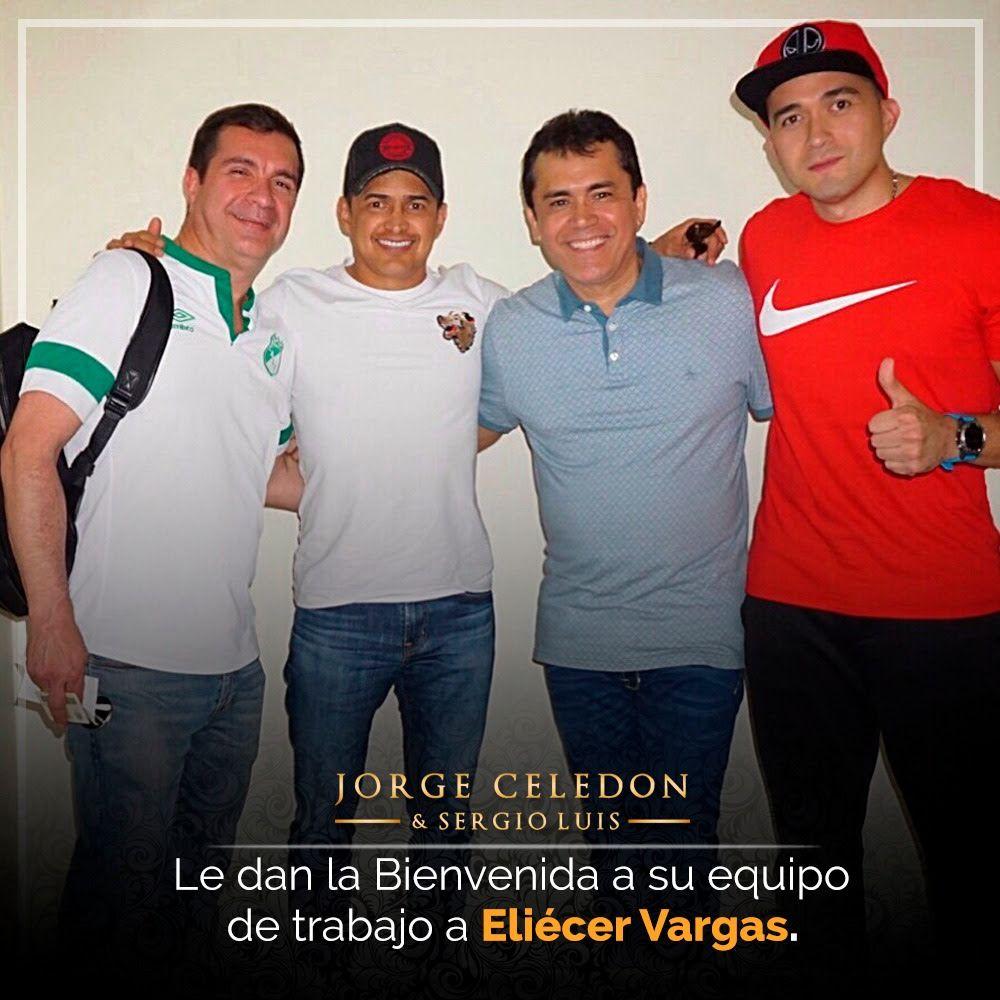 Jorgito Celedón recibe a Eliecer Vargas