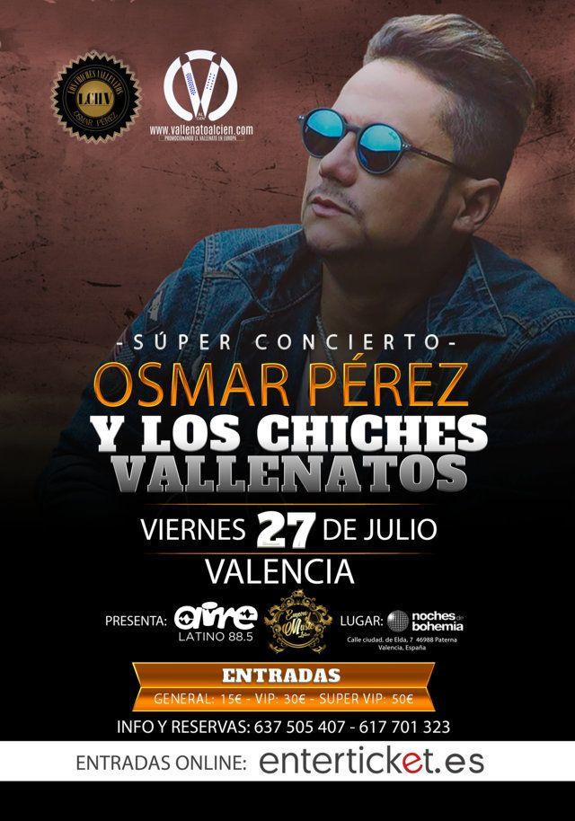 Concierto de Los Chiches Vallenatos en Valencia España