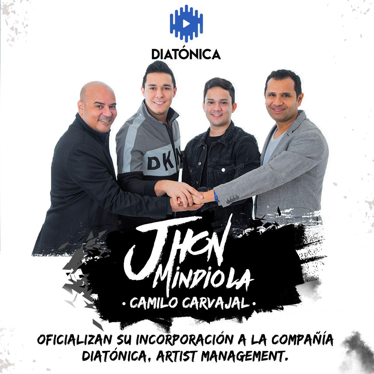 Jhon Mindiola y Camilo Carvajal artistas Diatonica