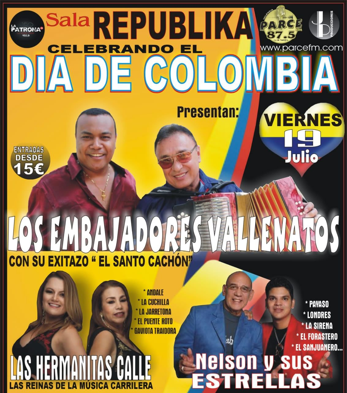 Independencia de Colombia en Valencia España