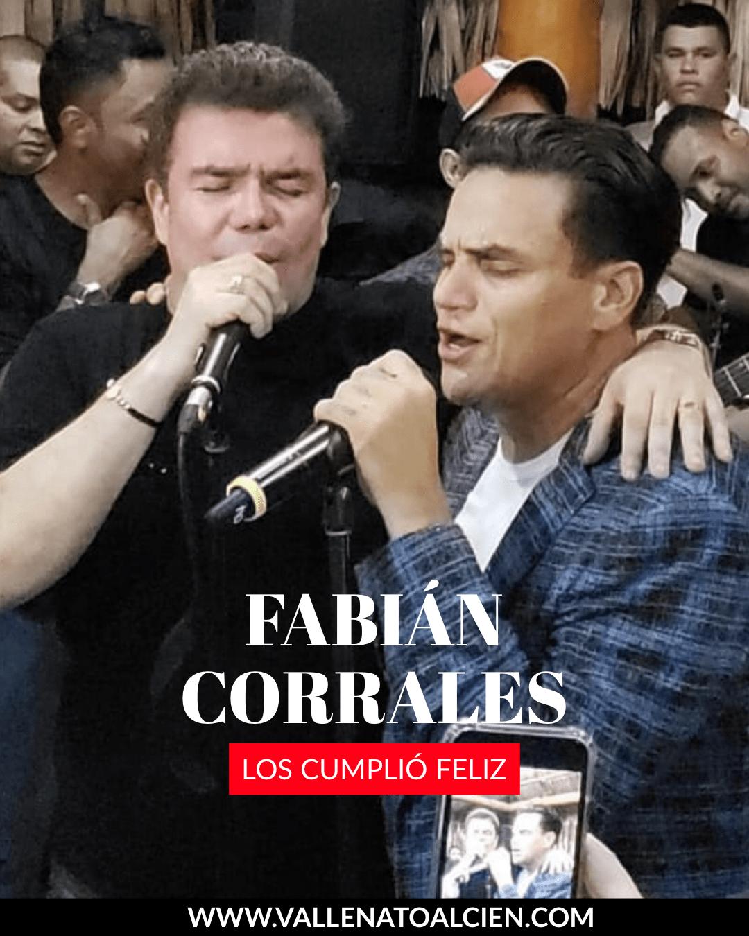Fabián Corrales cumplio 50 años