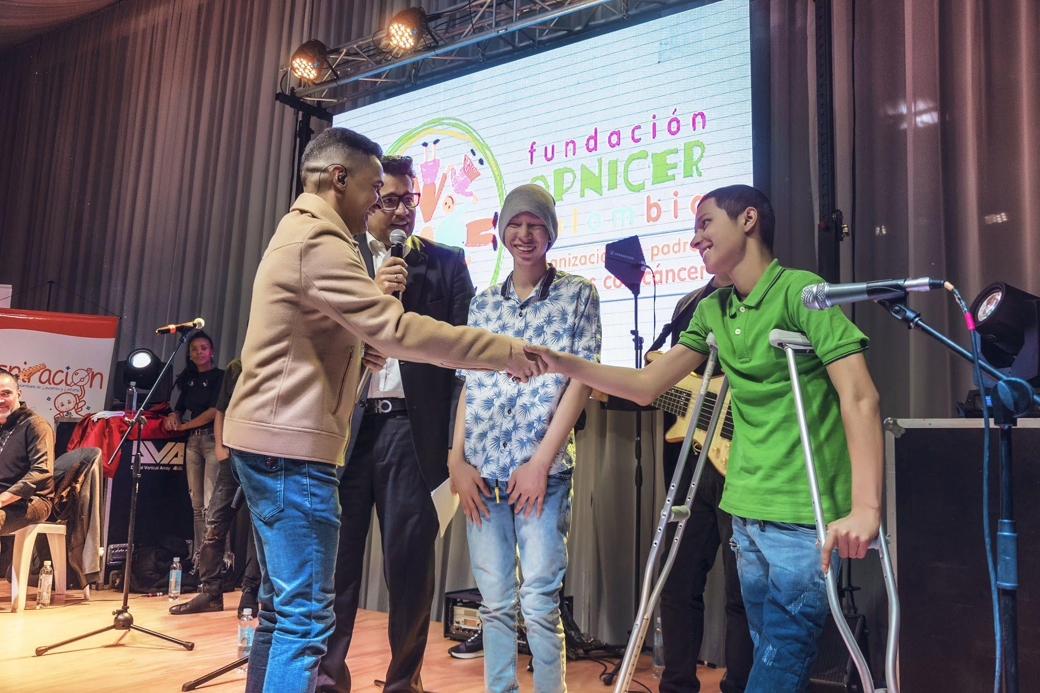Jorge Celedón con la Fundación Opnicer