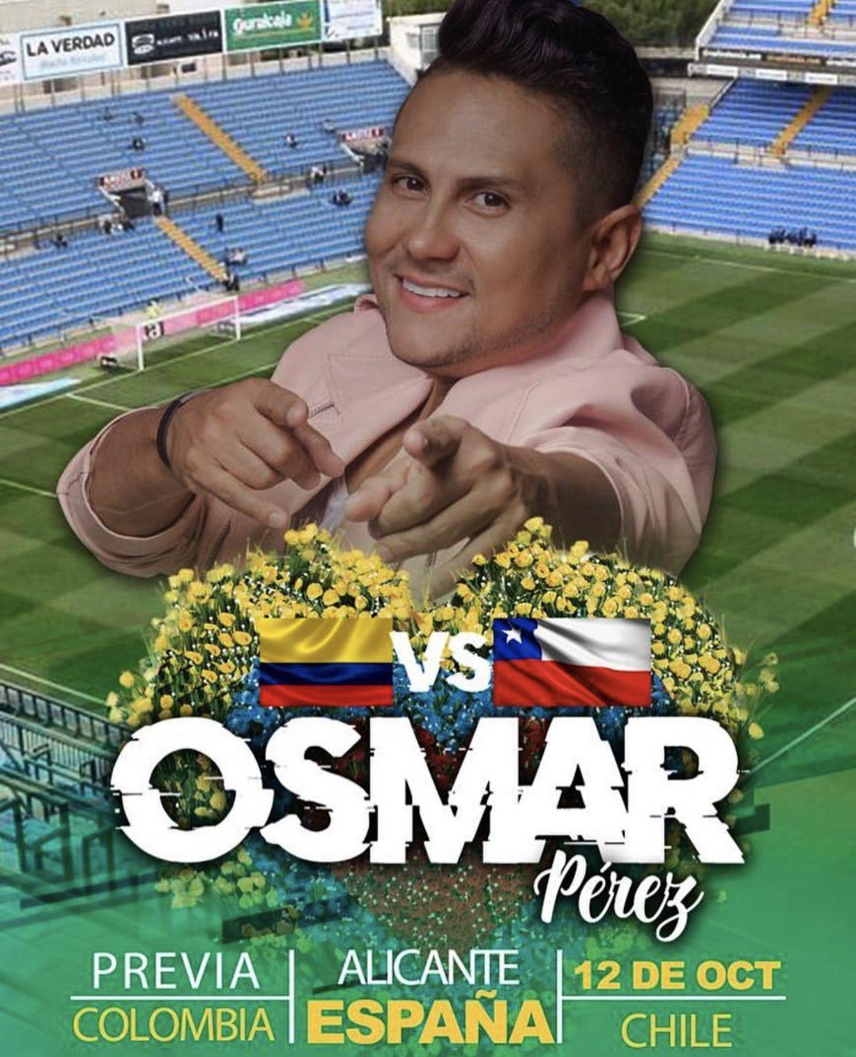 Osmar Pérez cantará el himno de Colombia en el partido de Colombia vs Chile
