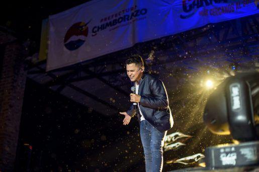 Jorge Celedón en los carnavales de Ecuador
