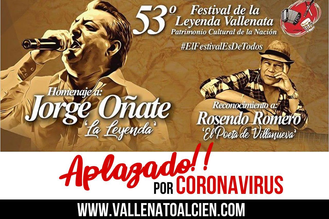 Festival Vallenato Aplazado por Coronavirus