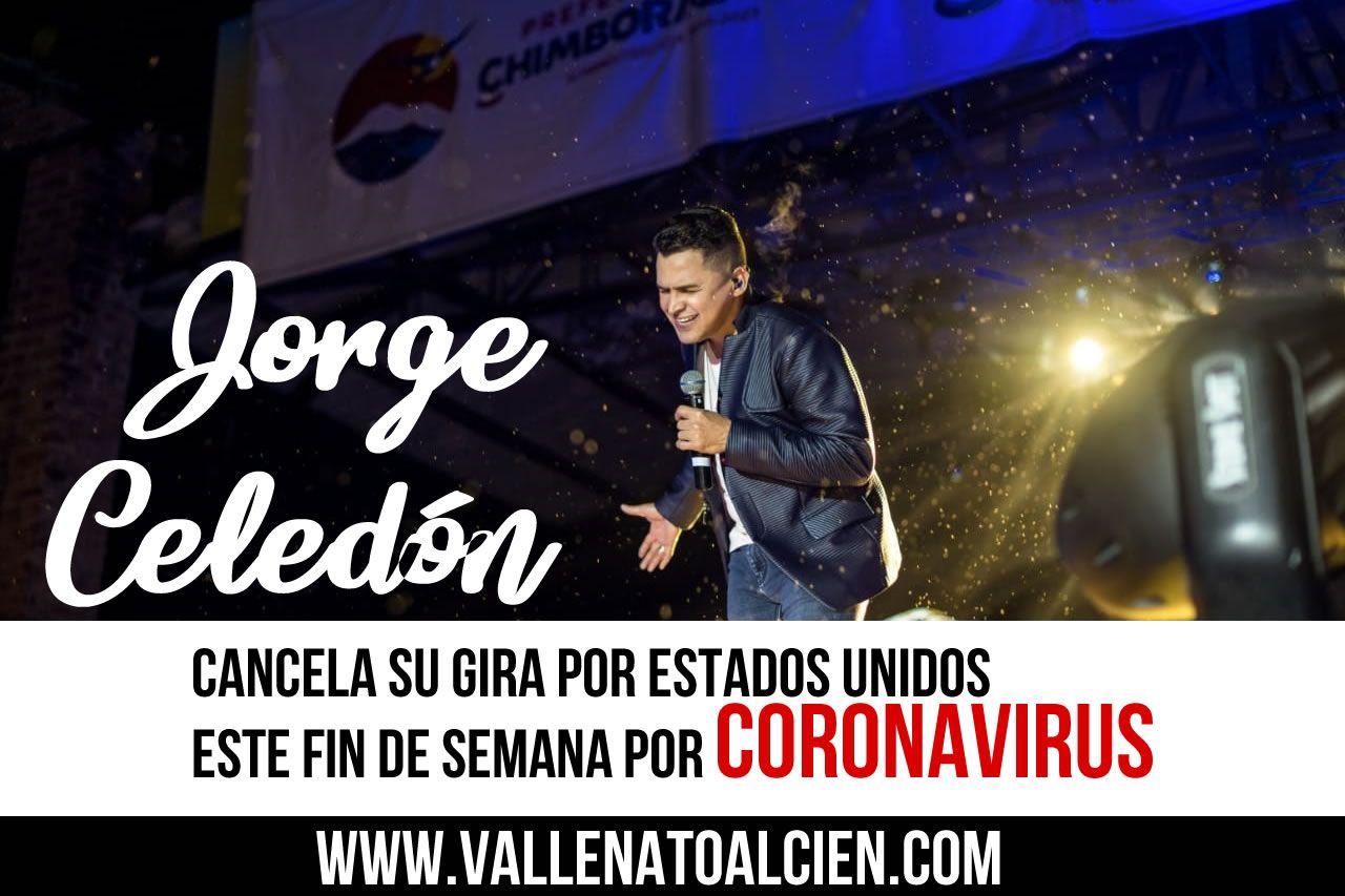 Jorge Celedon Cancela su gira por Estados Unidos por Coronavirus