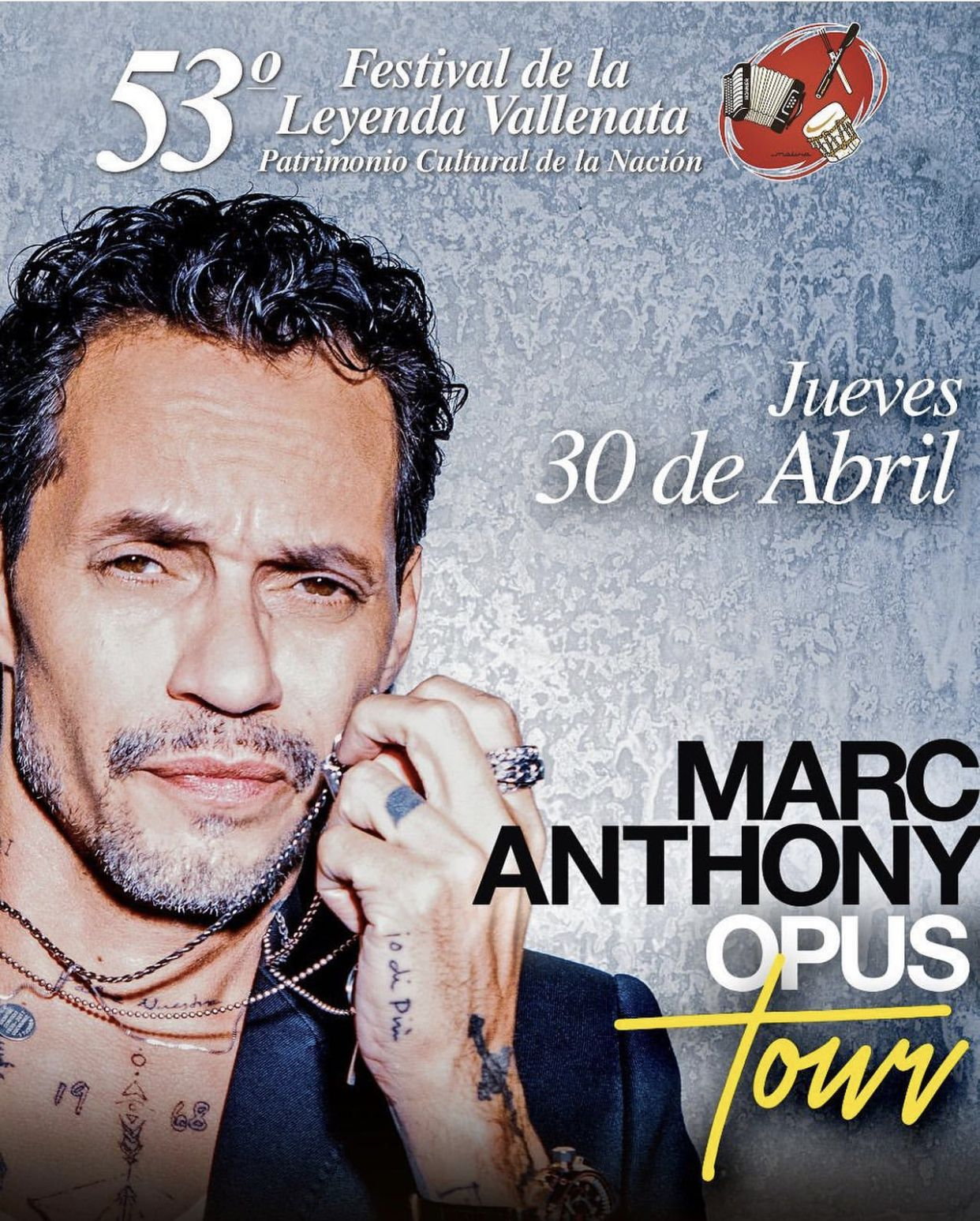 Marc Anthony en el Festival Vallenato 2020