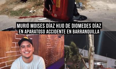 Murió Moises Díaz hijo de Diomedes en accidente en Barranquilla