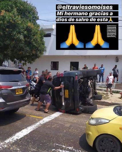 moises Díaz ya se habia accidentado en el mes de Marzo