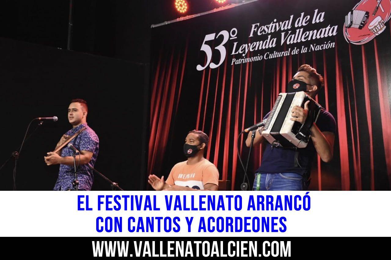 El festival vallenato arrancó con cantos y acordeones