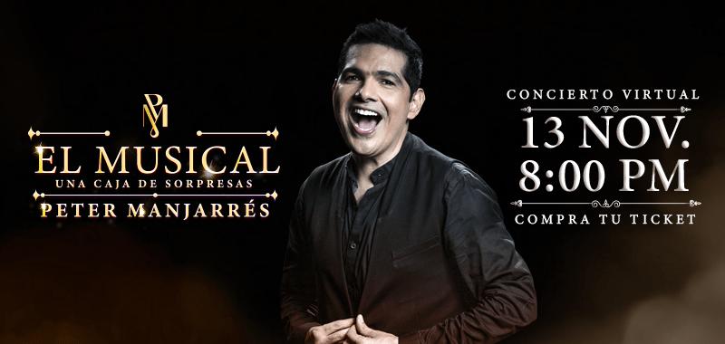 El musical el primer concierto virtual de Peter Manjarrés