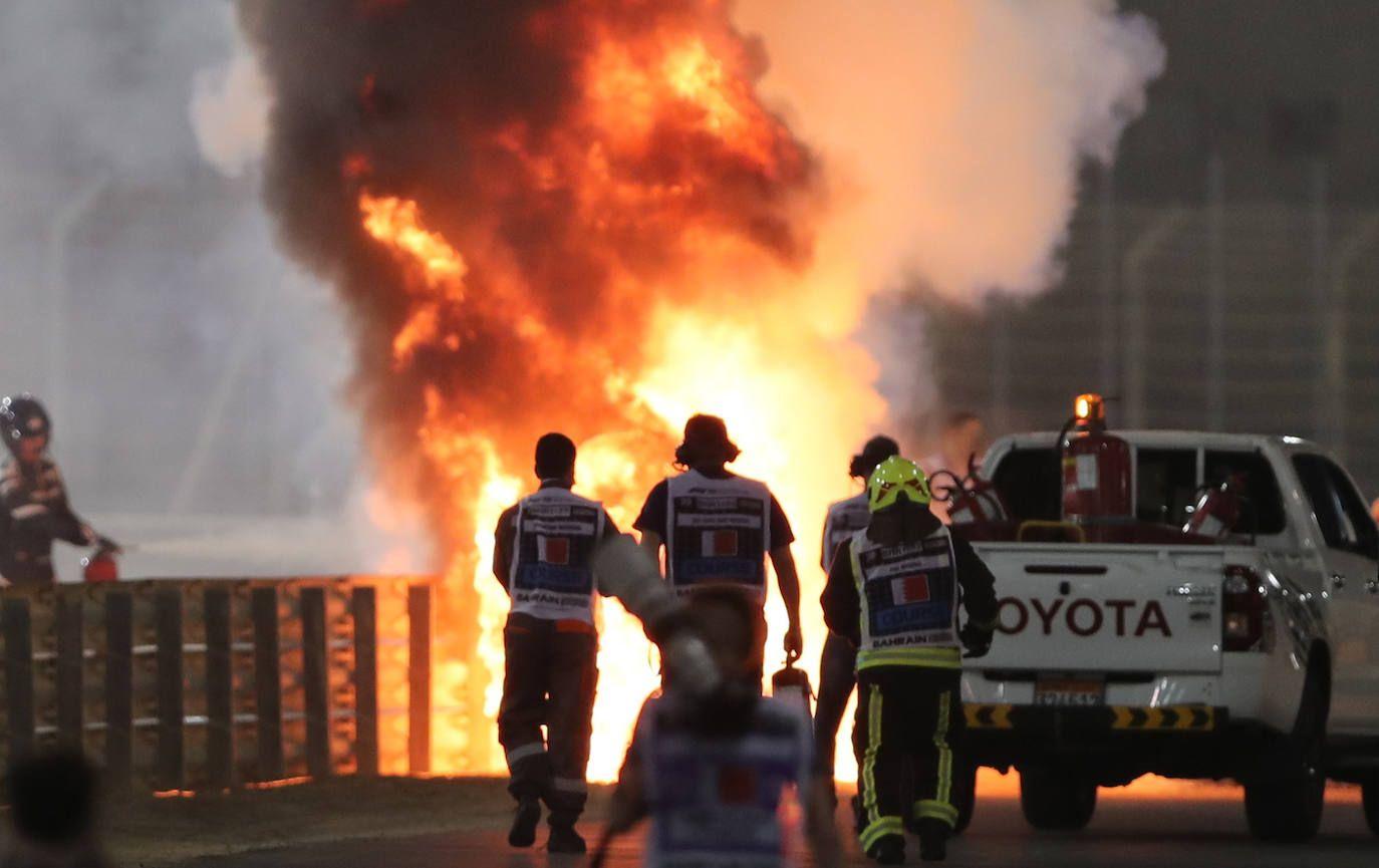 Accidente de Formula 1 Video de Grosjean