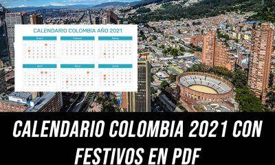Calendario Colombia 2021 con festivos PDF