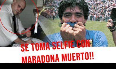 Foto de Maradona muerto original