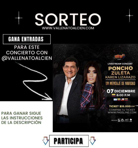 Gana entradas para el concierto de Poncho y Karen Lizarazo