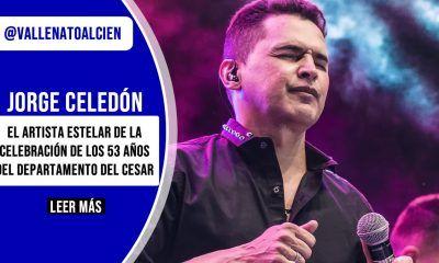Jorge Celedón artista estelar de la celebración de los 53 años del departamento del cesar