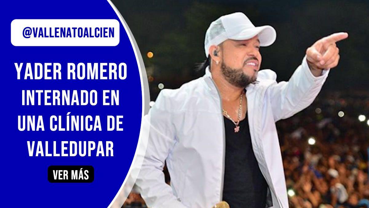 Yader Romero delicado de Salud