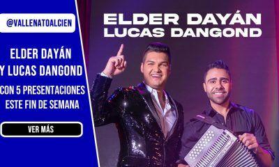 Elder Dayán y Lucas Dangond con 5 presentaciones para este fin de semana